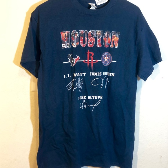 size 40 dde51 14ffc NWT Houston Texans Astros and Rockets Shirt signed NWT